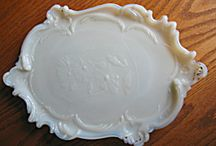 Vintage Milk & Slag Gass / Vintage Milk & Slag glass items for sale at More Than McCoy on TIAS. Visit my on-line shop; always adding new inventory. Milk Glass vases, vanity trays, bowls, etc. make lovely gifts for any occasion! / by More Than McCoy