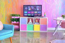 Rainbow colour Room