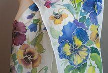 Malowane jedwabie