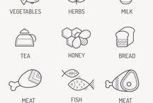 Illustration. Food.