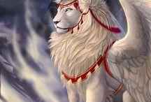 Lion Phoenix Wings