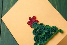 Christmas cards quiling