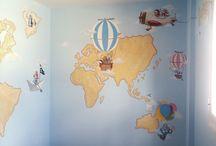 Mural Infantil de Garabato Mural / Estos son algunos de los murales infantiles que hemos realizado.  Los dormitorios infantiles son espacios muy especiales, que deben ayudar a desarrollar la creatividad, la imaginación y donde empezar a soñar.