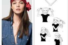 Headscarves : a round up of various ways to tie by other amazing Pinners