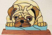 vitral perros