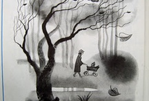 Black and white children's book illustration