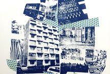 screenprint collage