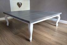 EVN Woonstyle maatwerk tafels / Steigerhout, Eiken, Queen Ann, bolpoten eettafels en salontafels. Staat prachtige in een landelijke inrichting