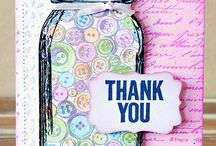 Thank You Cards / Thank You & Gratitude Cards created with Darkroom Door Rubber Stamps!