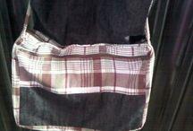Bolsas de tecido (feitas por mim)