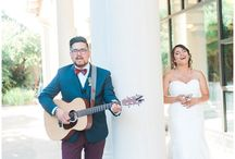 Vintage Music Plum and Navy Wedding