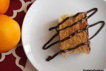 Πορτοκαλί πίτα με κανταιφι