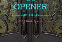 Doors of Wisdom / Doors can control physical atmospheres as well as create an impression of what lies beyond. Enjoy these words on what doors mean in the world - both literally and metaphorically.