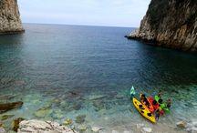 Sea Kayaking, Greece. By AgreekAdventure.com / Sea kayaking photos from Greece.
