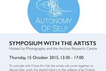 Autonomy of self - SYMPOSIUM WITH THE ARTISTS / To coincide with Frieze Art Fair, the artists will come together to discuss their work, the shared history in the collapse of an Empire, and the complexities of representing those living within conflict.The event will be hosted by PARC Research Group at The Swedenborg Society Hall, and chaired by Max Houghton. Speakers include: Joana Hadjithomas and Khalil Joreige, Moufida Fedhila, Nadia Mounir, Sadik Kwaish Alfraji, Armenoui Kasparian Saraidari and Joy Stacey.