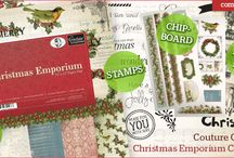 Christmas Emporium Papers, Stamps, Ephemera | #couturecreationsaus / Couture Creations 2015 Christmas Emporium Collection a gorgeous vintage collection of papers, ephemera, chipboard and stamps ...perfect for all your Christmas crafting