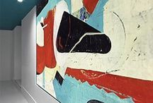 Statement pieces / Large paintings and mural making a bold statement and impact