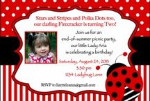 A Ladybug Picnic Party / A fusion of themes from One Crafty Kitchen and Too Simple Affairs: a ladybug party and labor day picnic