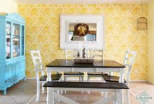 Color Me: Yellow / Yellow is a hot color right now! See our inspiring yellow interiors, home decor, and stencil projects. Test out new DIY stencil projects with your favorite shade of yellow...the possibilities are endless! / by Cutting Edge Stencils