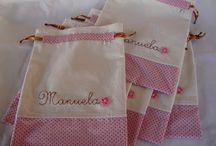 saquinhos de tecidos