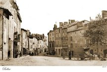 Bellac Haut-Vienne France / Reproductions of old postcards made around a hundred years ago.