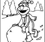 Children Christmas colouring pages / Children Christmas colouring pages / by Edwige Gendron