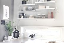 White String Shelf Interior Design