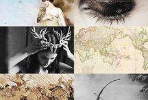 Athena, Nike and Associates / Eris and other war goddesses, Nike; and Arachne