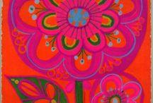 Seventies kitsch / Inspirations for seventies kids art
