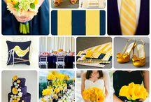 Цвет свадьбы: сине-желтый