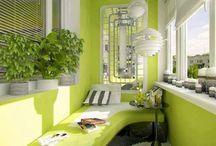Nyitott, és beépített erkélyek, teraszok, belső udvarok / kerti házikók, üvegházak