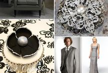 Black-white-silver wedding
