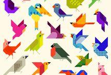geboorte kaarte vogel