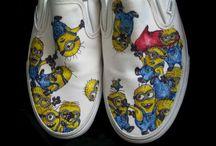 Sapato customizado dos minions