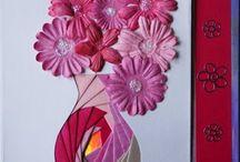 Cards...Folds...Iris Patterns...Hearts & Flowers
