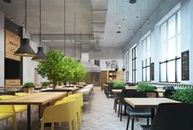 WOOD&FOOD / Design of a new restaurant in Kiev