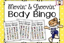 Creative Movement Activities / You'll find free and paid Creative movement activities using bean bags, scarves, stretchy bands, jump ropes, yoga, brain breaks, games, relays and more for your music class, PE,  preschool and home school setting.