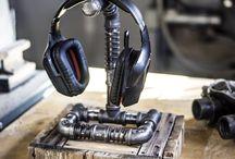 headphone stand/lamp ideas