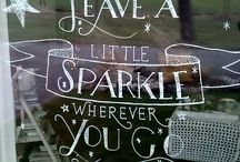 Chalk window & handlettering