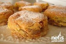 Elmalı bisküvili Kek