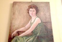 Vintage Portrait Paintings / A selection of vintage portrait paintings. Create your own unique home decor.