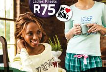 Mothers Day 2014 / Treat your mom the way she deserves with a set of Ladies PJ's for just R75. You can find your nearest store here: www.jamclothing.co.za