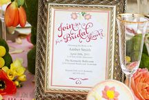 Bridal Shower ideas / by Squared Wedding Press / Squared Party Printables