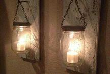 Illuminazione con barattolo di vetro