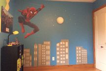 Super Hero Bedroom / Boys' bedroom renovation with super hero theme.