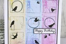 BIRD SILHOUETTES A7 stamp set