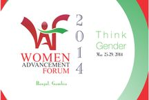 Women Advancement Forum / Women Advancement Forum (WAF) is Africa's most attended gender conference.  WAF is a platform which recognizes the obvious fact that women advancement and empowerment is amongst the most outstanding agent to the actualization of millennium development goals (MDGS) and even beyond. You can get details from: www.womenadvancementforum.com