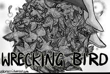 wrecking bird