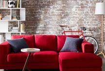 Love your sofa - czerwień / Design, wzornictwo, tkaniny.