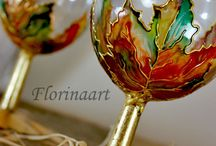 Hand painted candle holders / Beauty of colourful lights